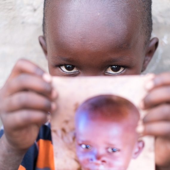 Gambian children self portrait
